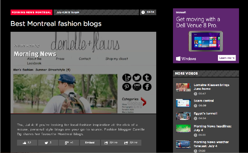 global news best montreal fashion blogs