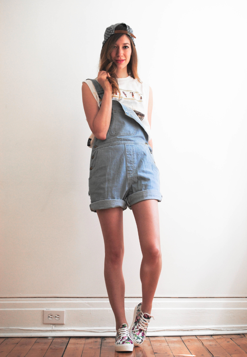 american apparel overall and plenty shirt and cap