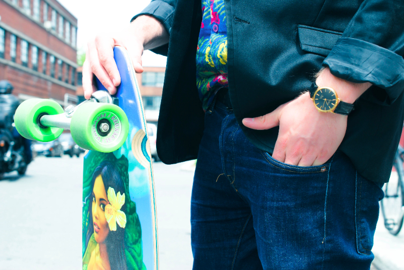 men's fashion. Watch and board