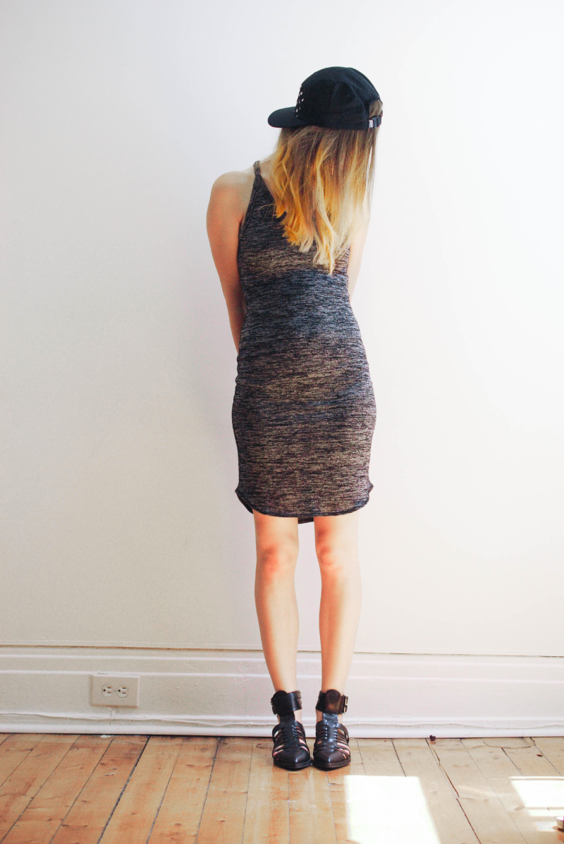 aritzia dress- quintin co cap