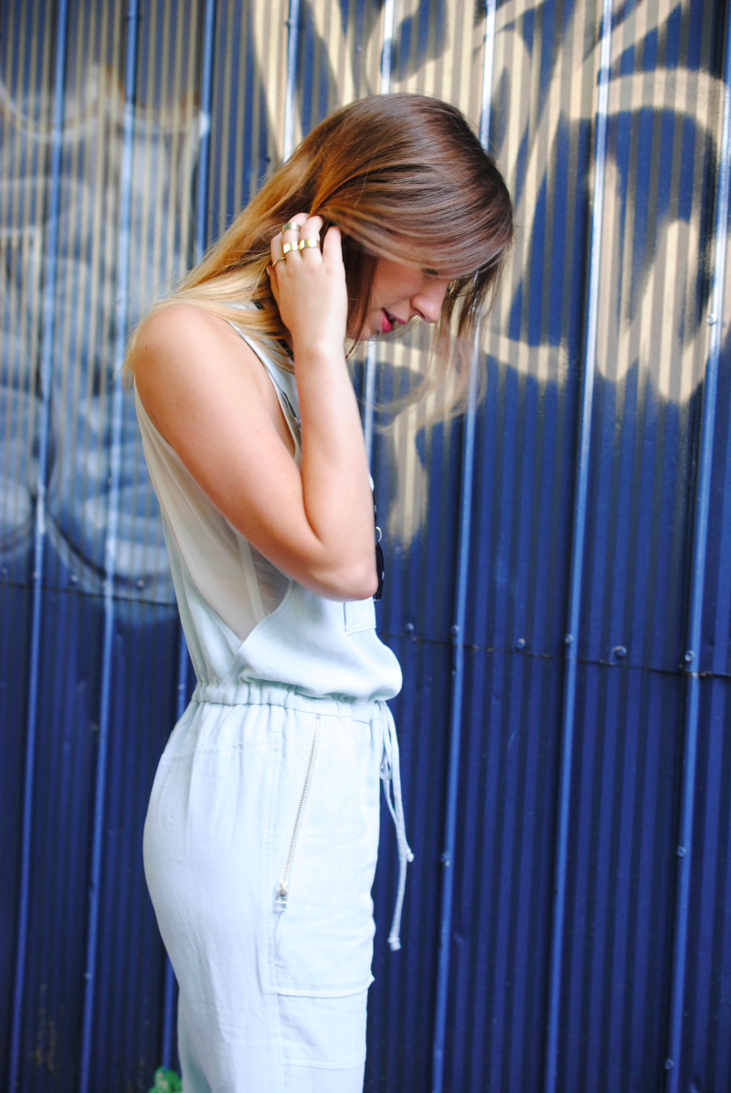 aritzia dungarees and H&M rings