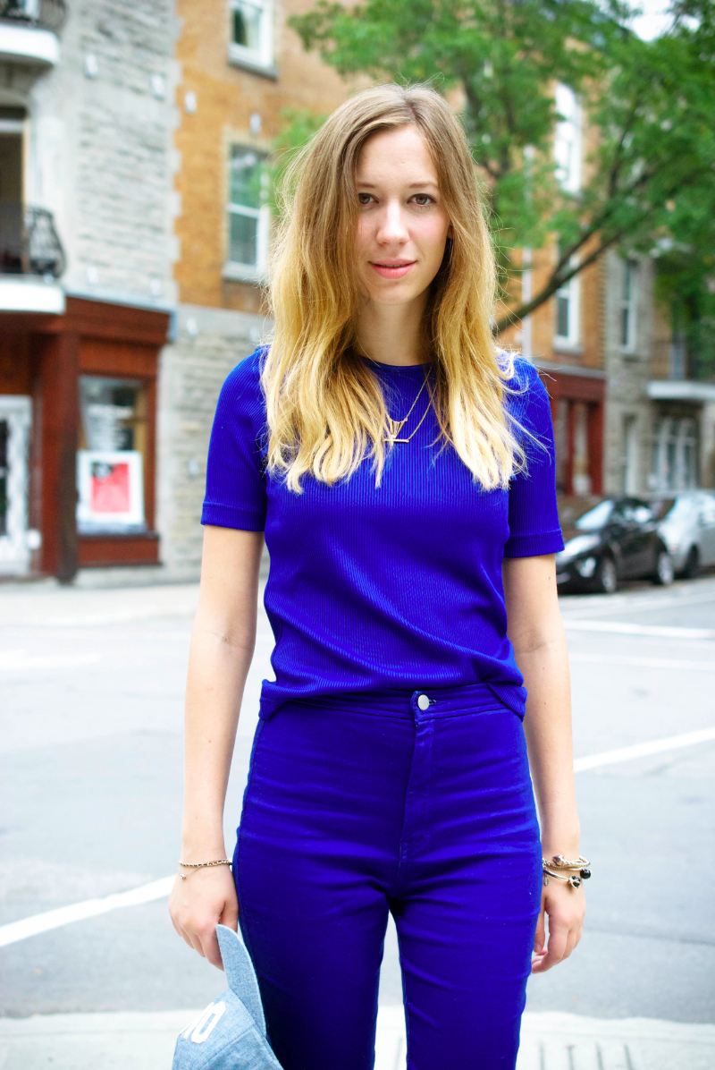 all blue outfit post