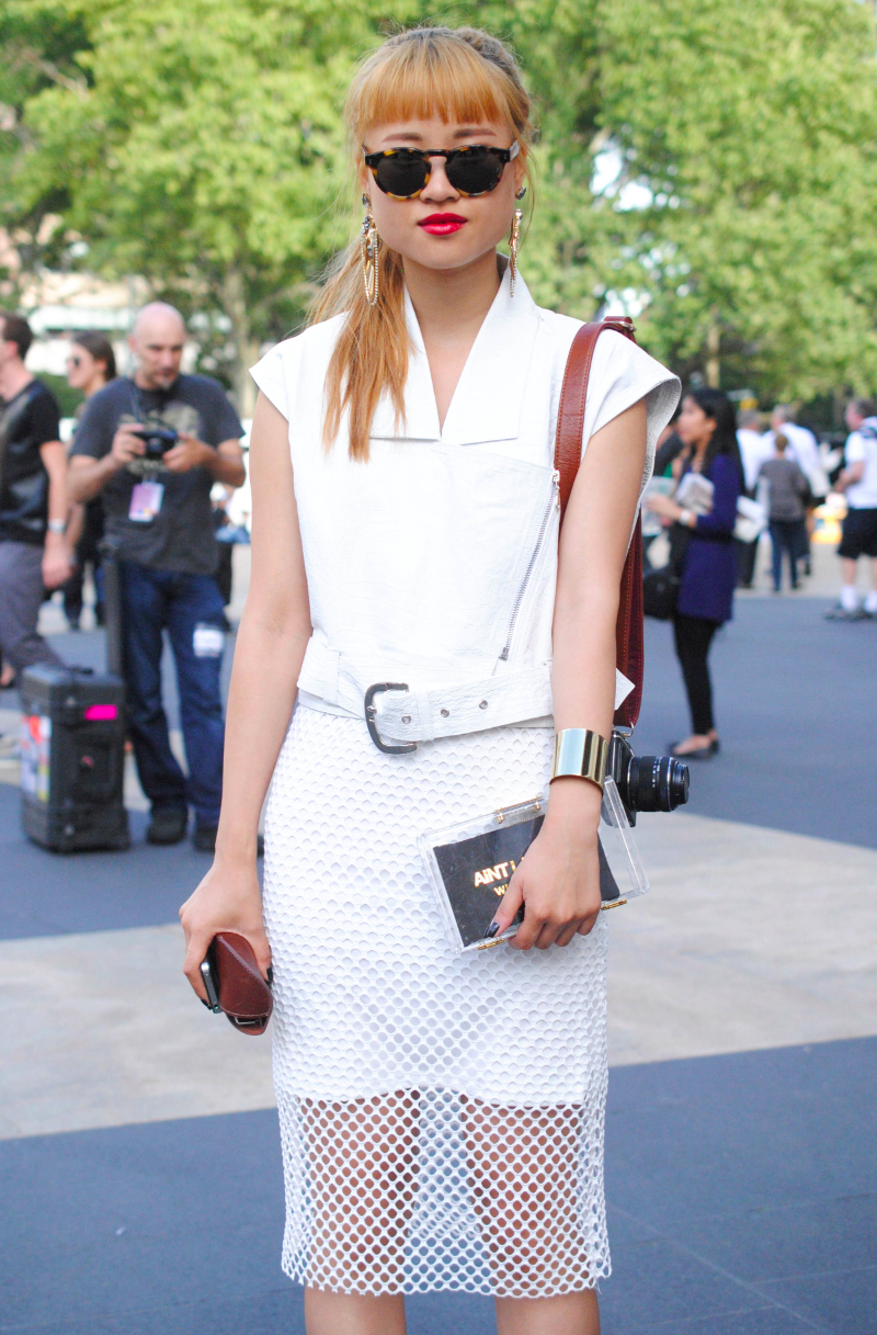 nyfw streetstyle all white