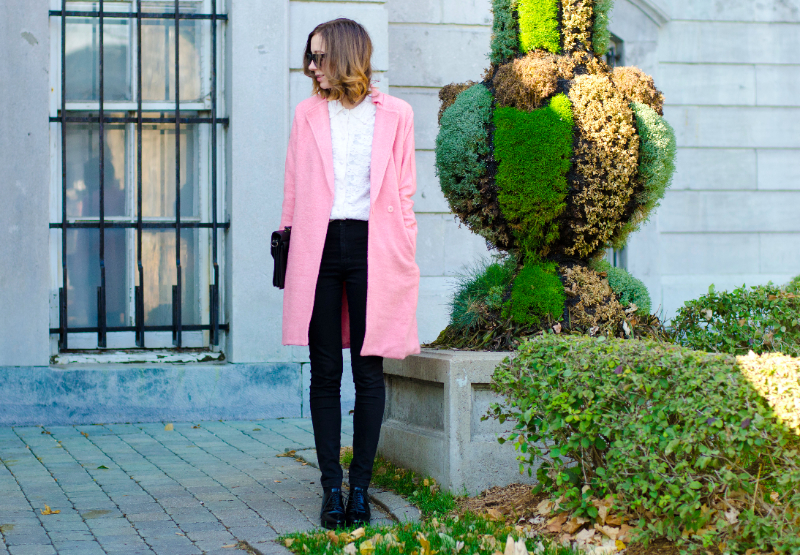 pink coat for Fall