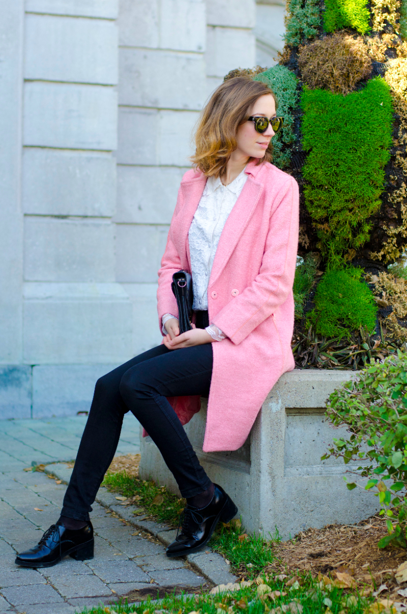 pink coat from Oasap