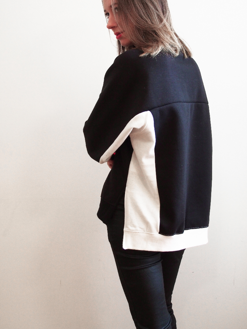 black and white frontrowshop crewneck outfit
