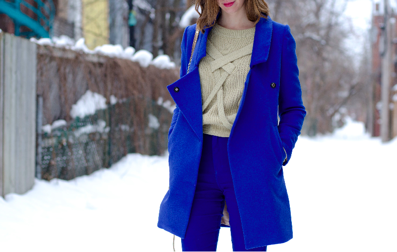 oversized blue coat oasap