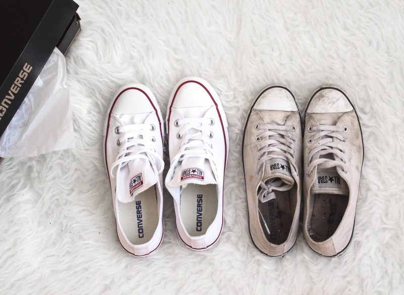 Shopping White Converse Old Vs Newdentelle Fleurs