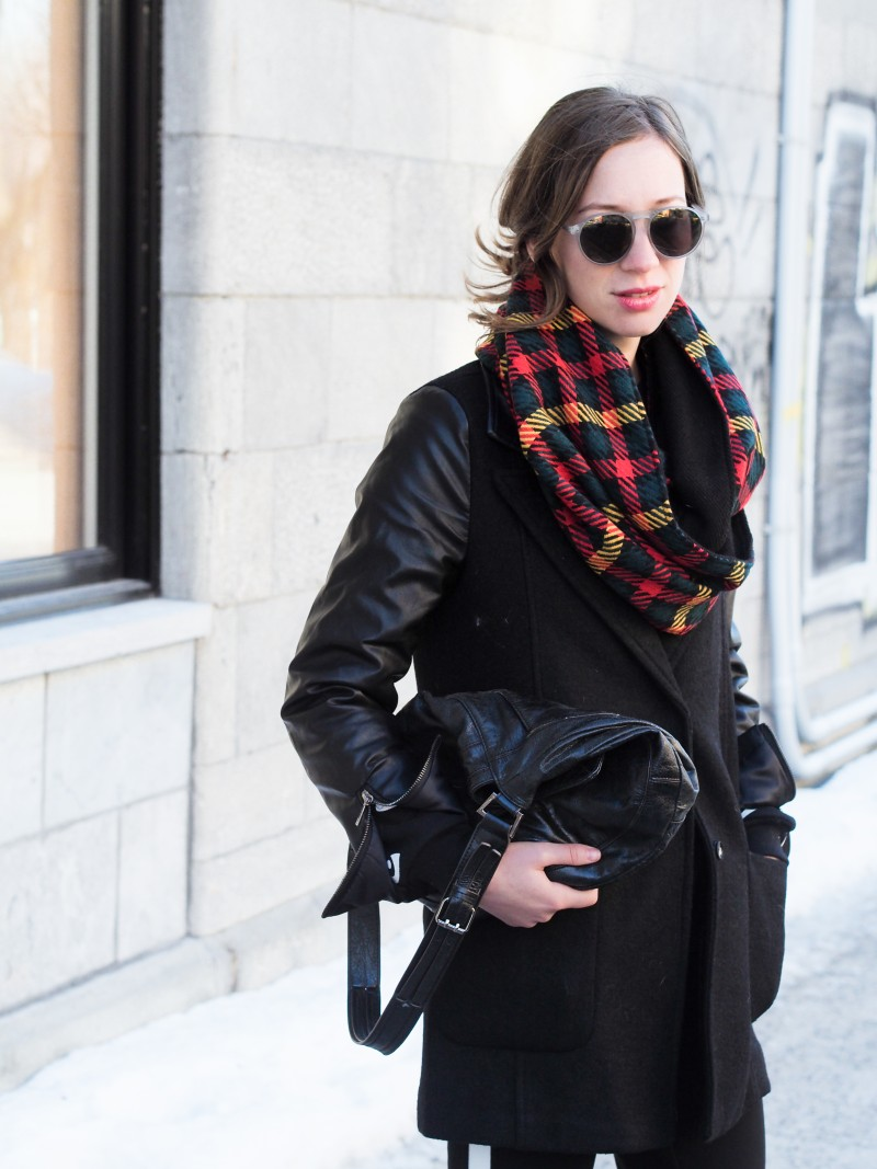 Winter outfit plaid scarf
