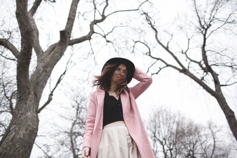 Pink and Black outfit post with 424 Fifth and Laura Baldwinson on D+F