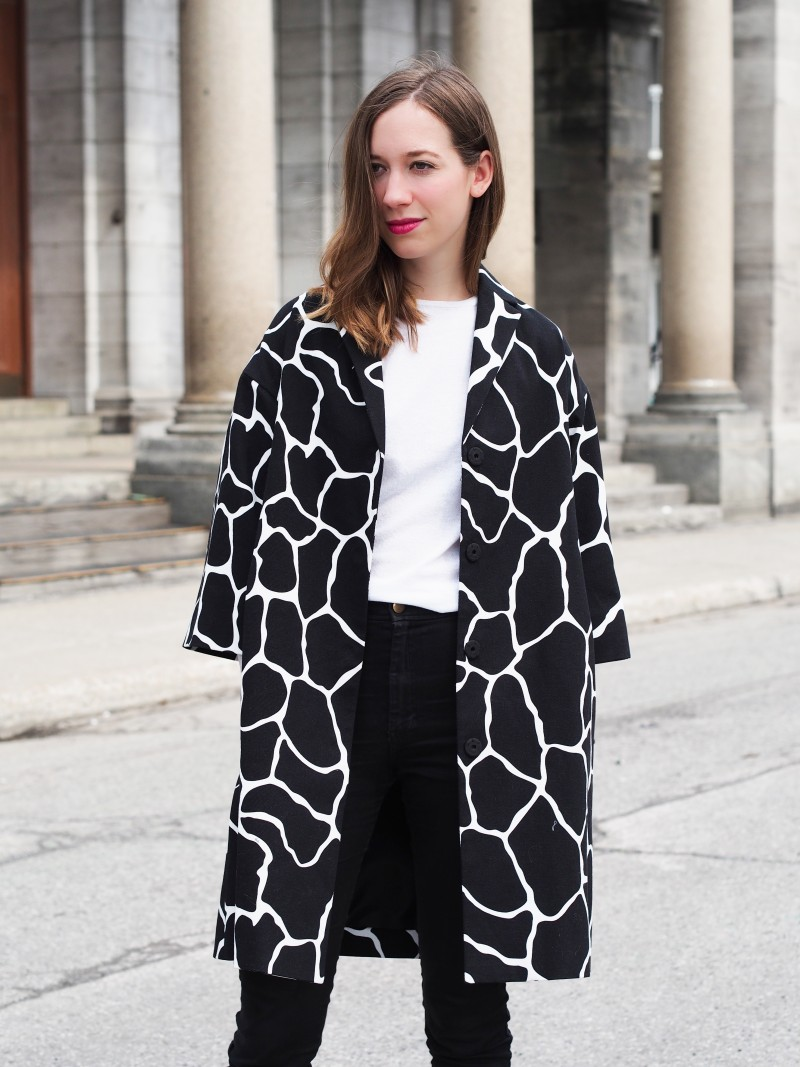 424 fifth animal print coat