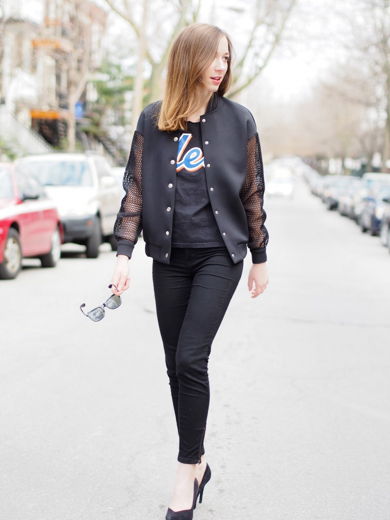 Sporty chic outfit post