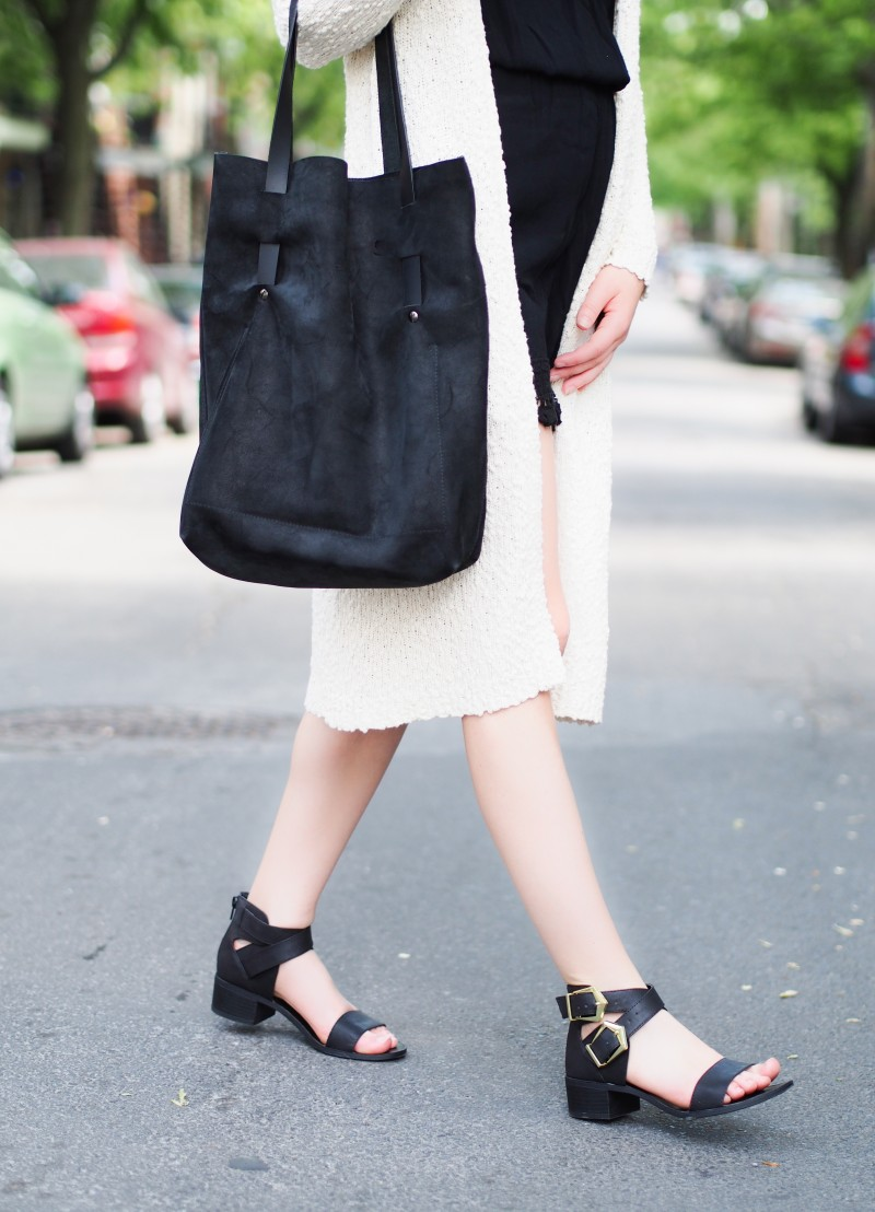 Martin Dhust leather shopper. Forever21 sandals