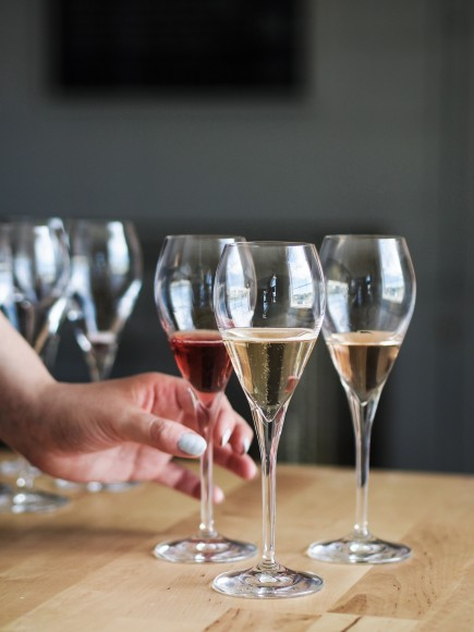 Normand Hardie bubbly wine