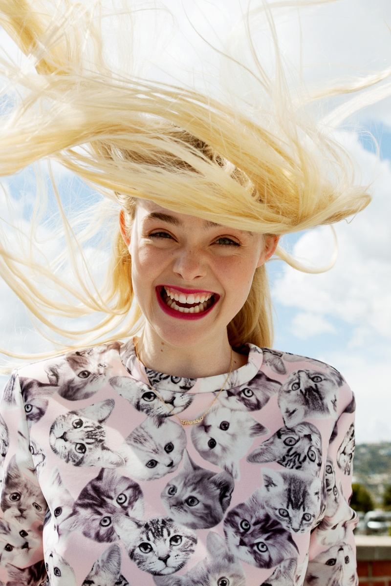 elle fanning for Asos mag