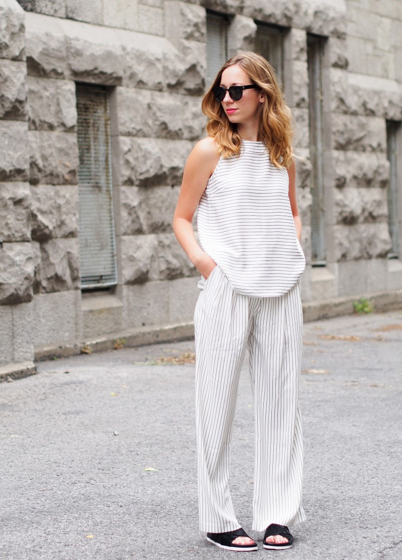 Match-all outfit, Stripes and slidders