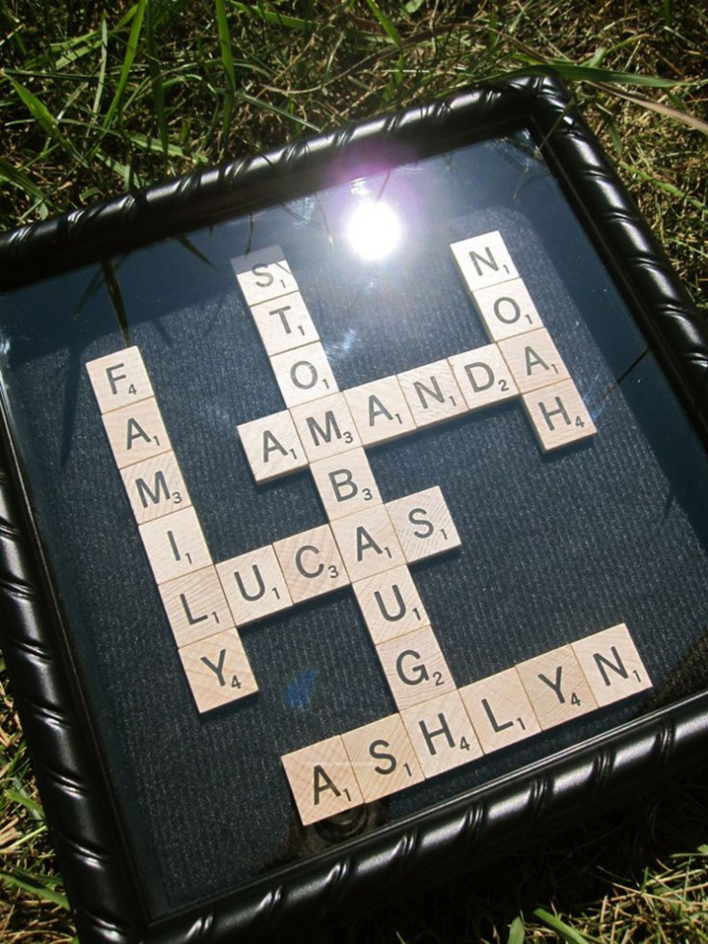 Scrabble game in a frame