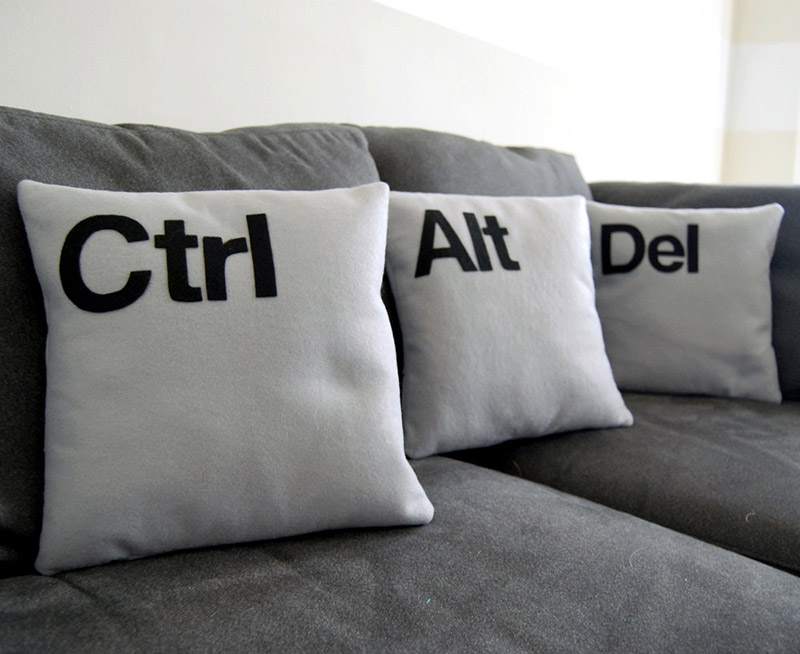 Geek pillows for your living room