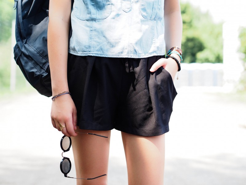 Sanctuary top and shorts