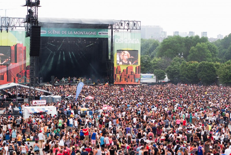 Crowd at scène de la montage at Osheaga 2014
