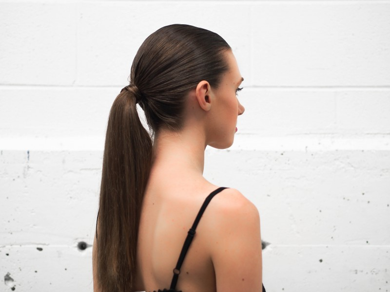 Seen on the runway: Slick ponytail