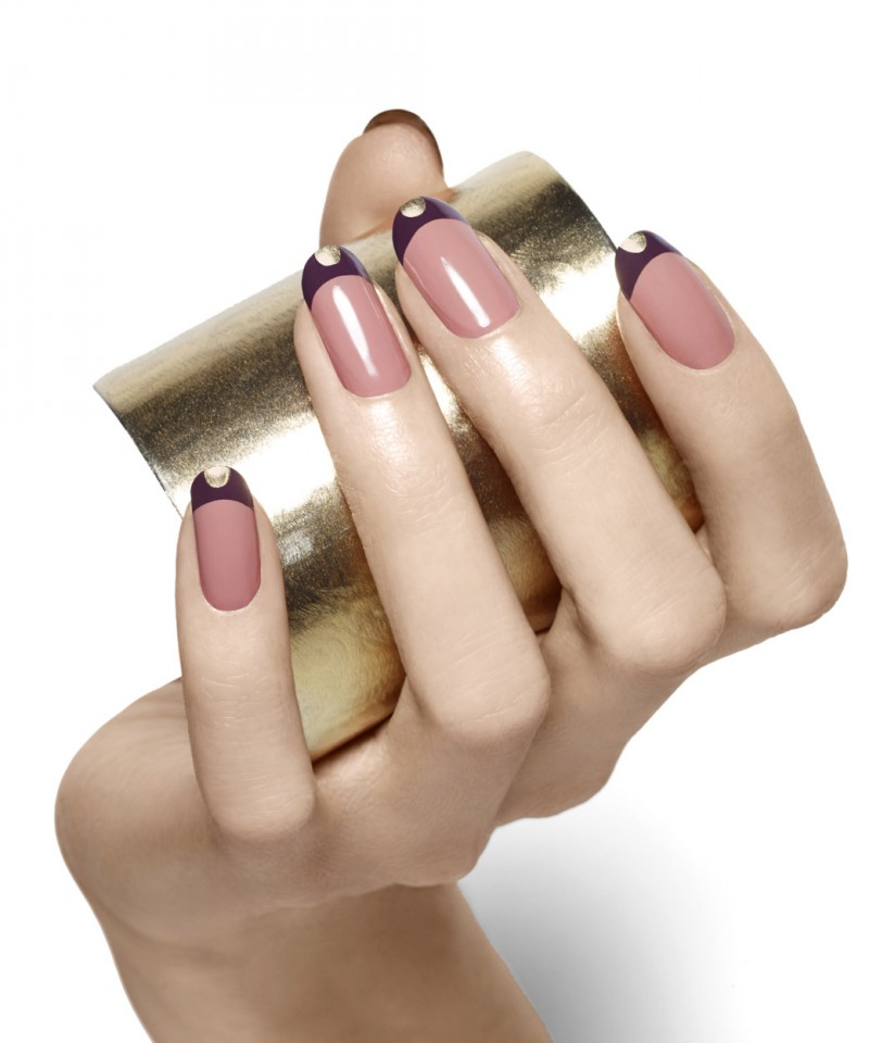 gold cuff easy nail art