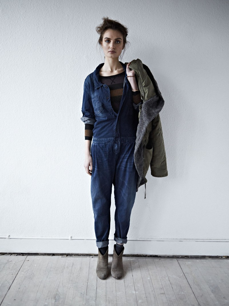 maison scotch one piece denim suit