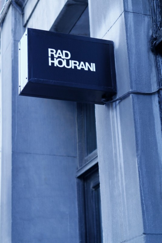 street sign of the rad hourani store