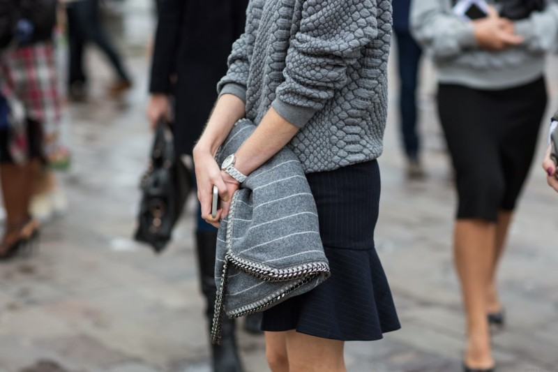 grey layers with zipper bag