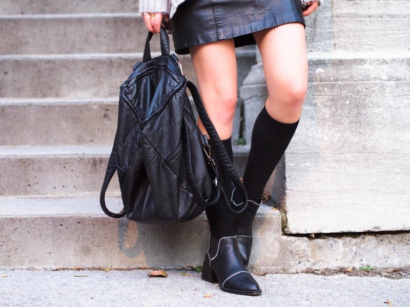 Shopthefreeisland backpack. Senso Mason black boots.
