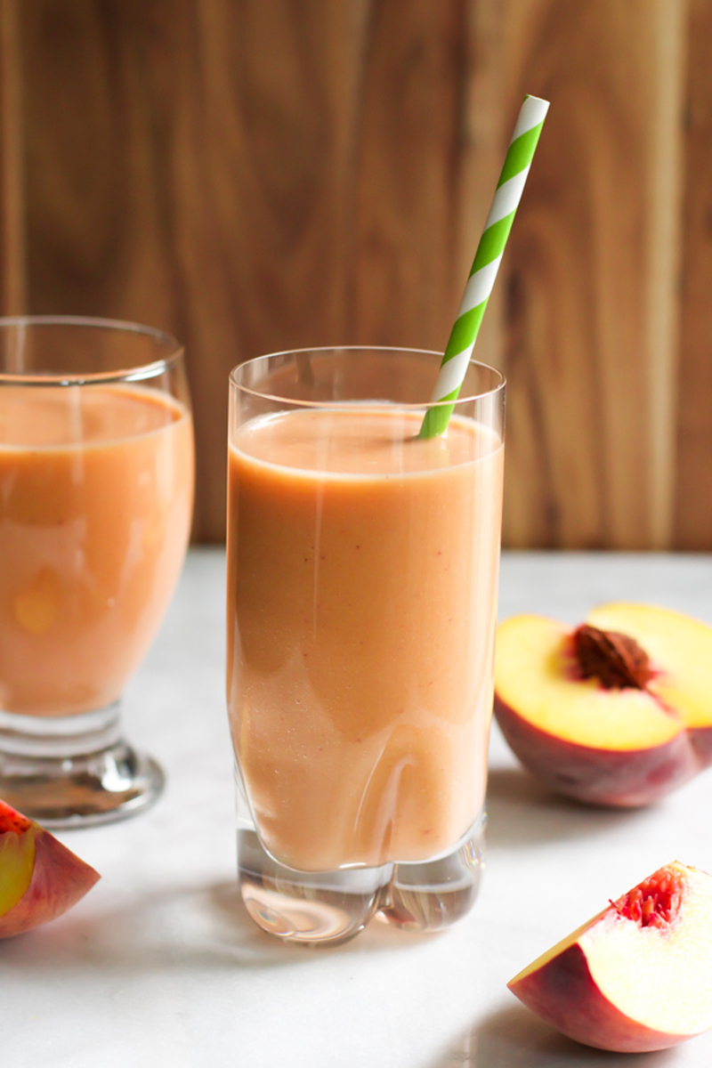 easy peach carrot smoothie
