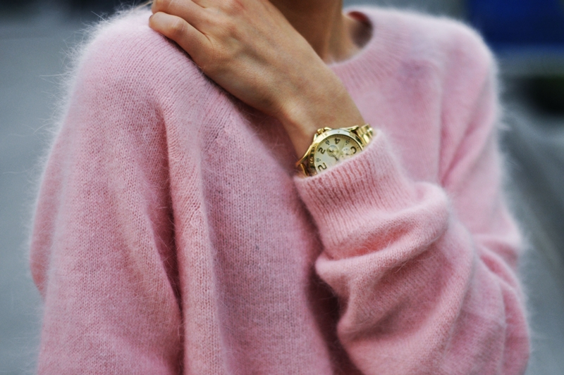 pink sweater comfy season fall