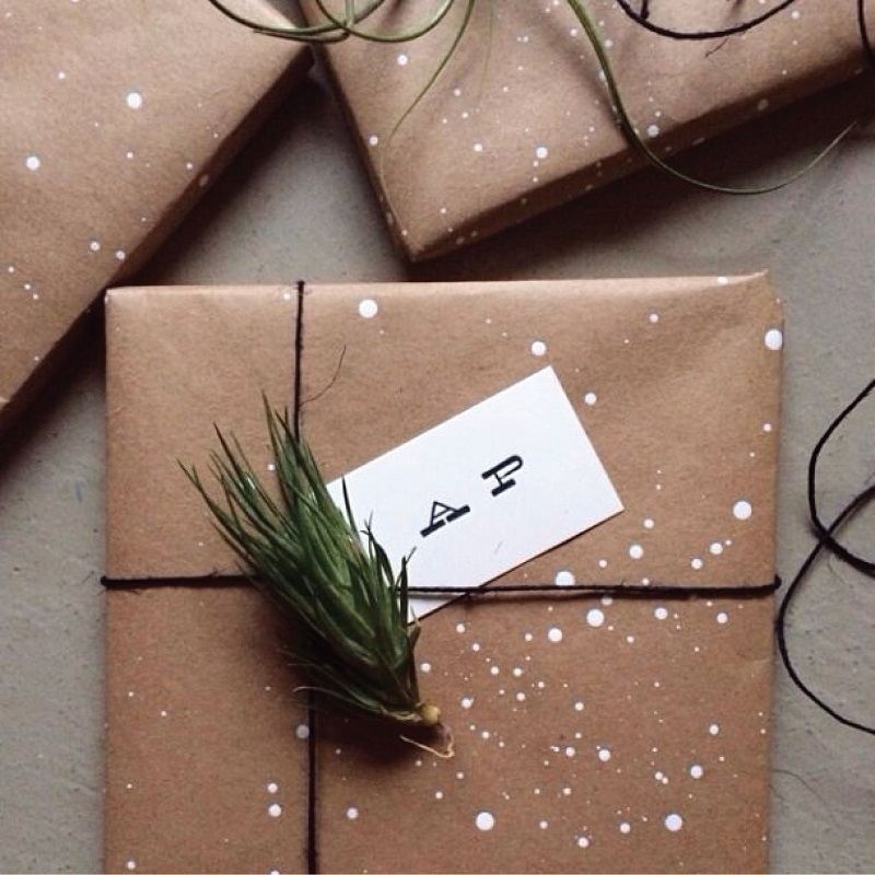 Drops of white wrapping paper