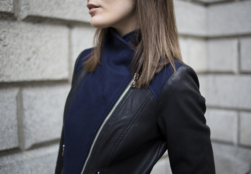 fashion rule coat navy blue fall look jacket