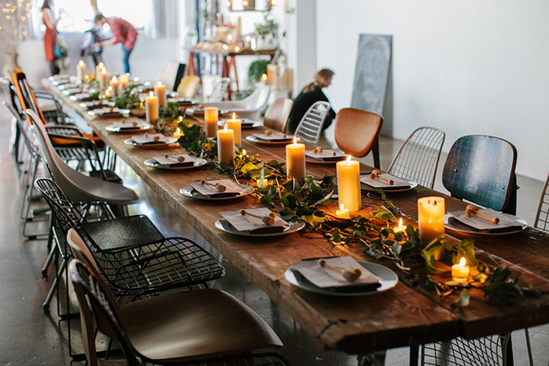 set table for a brunch