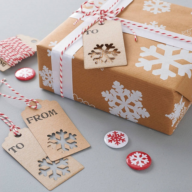 snowflake wrapping paper