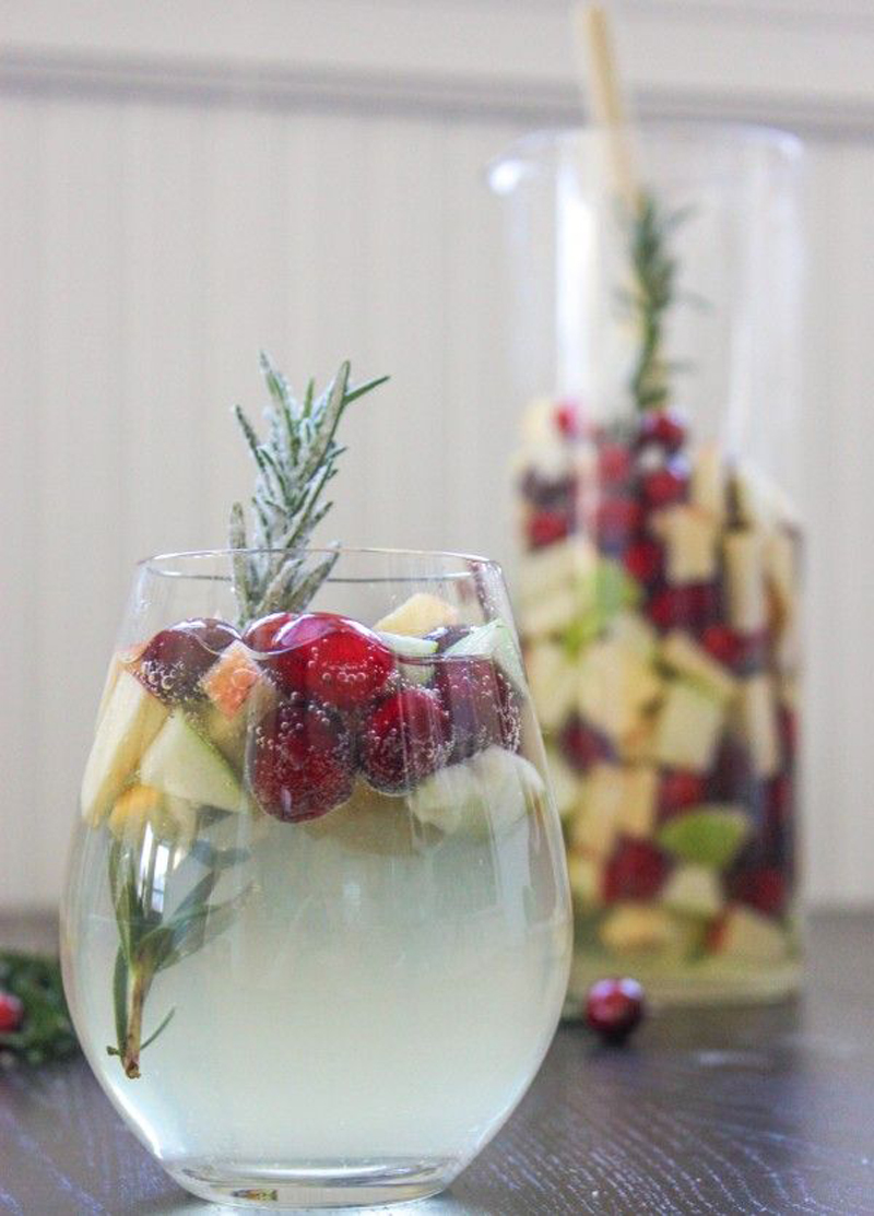 cranberry and rosemary sangria