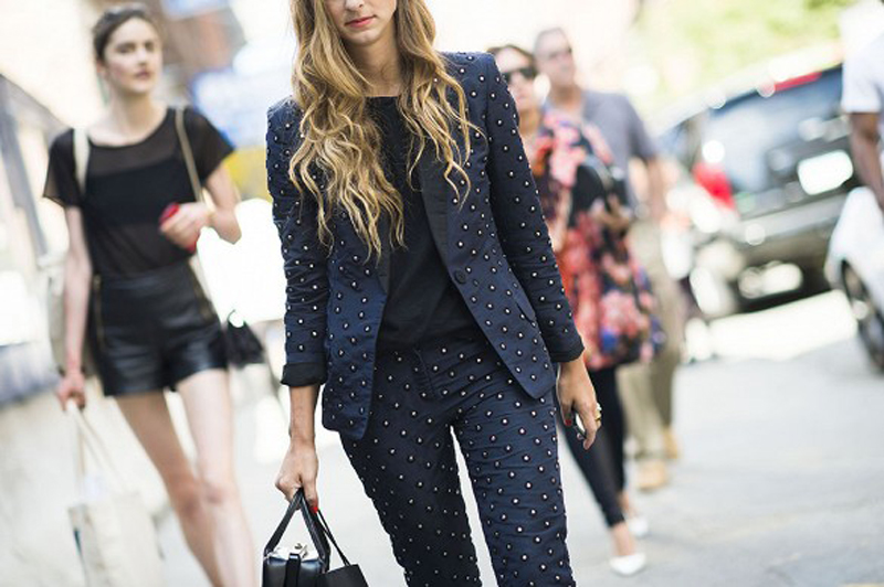 embellished pant suit for holidays