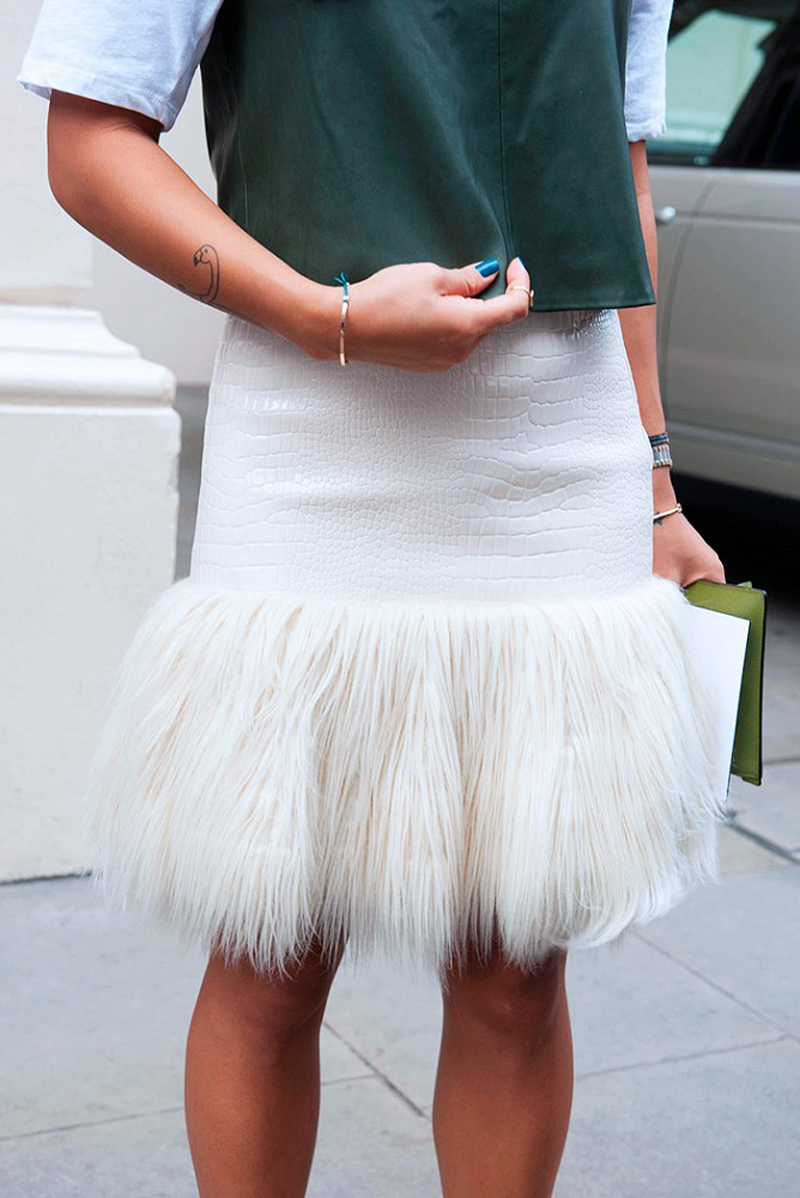 furry skirt for the holidays