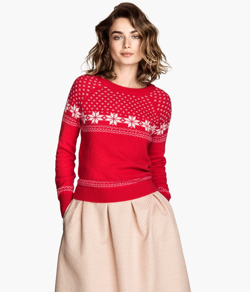 red sweater with pink skirt