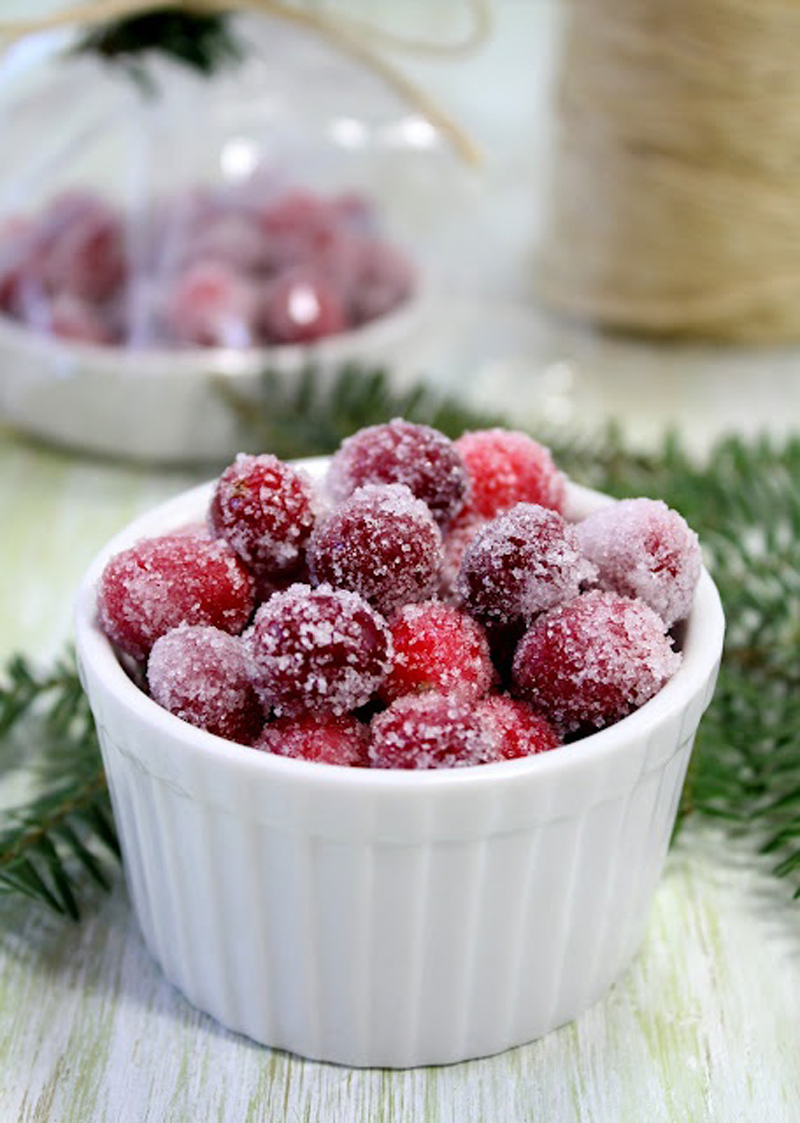 sugared cranberries to eat and decorate