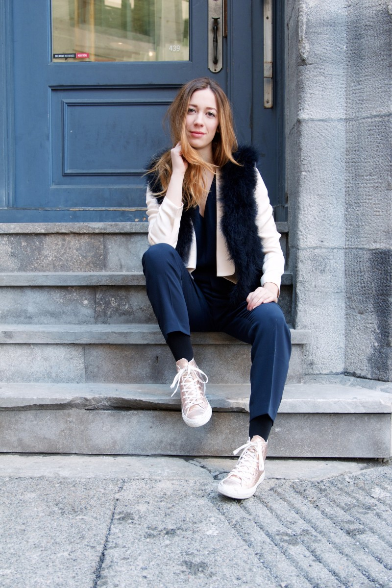 All club monaco outfit with converses