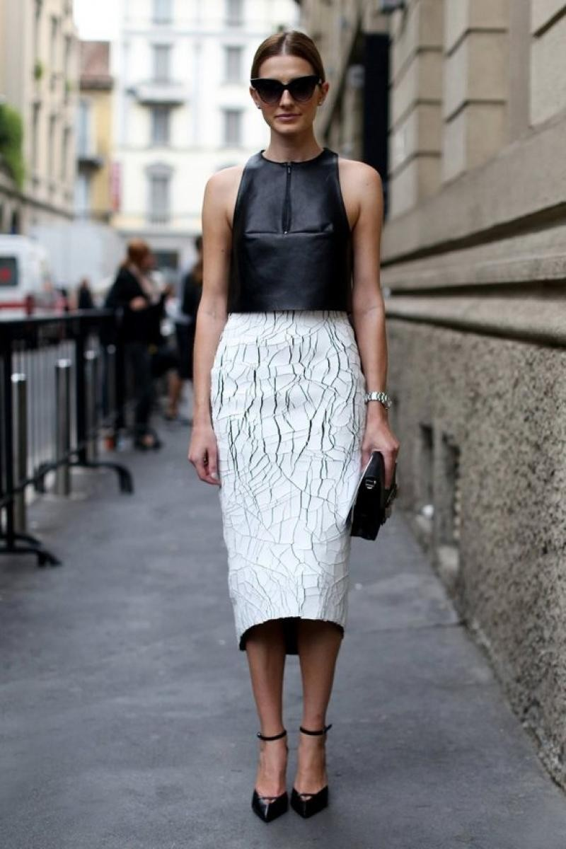 balenciage cracked leather outfit white street style 2014