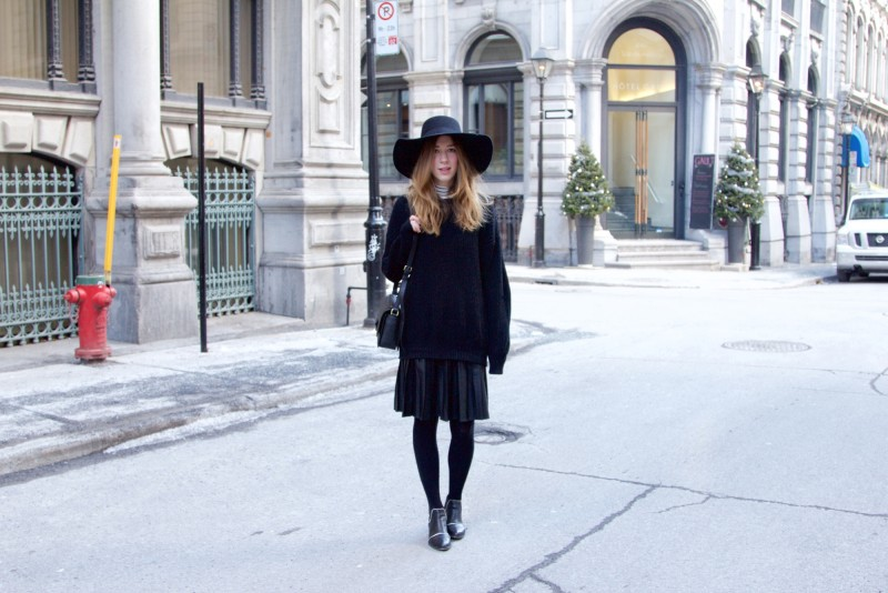All black (almost) outfit for winter