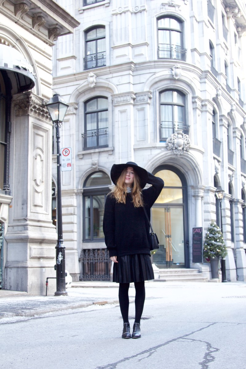 all black winter outfit post montreal blogger gabrielle lacasse