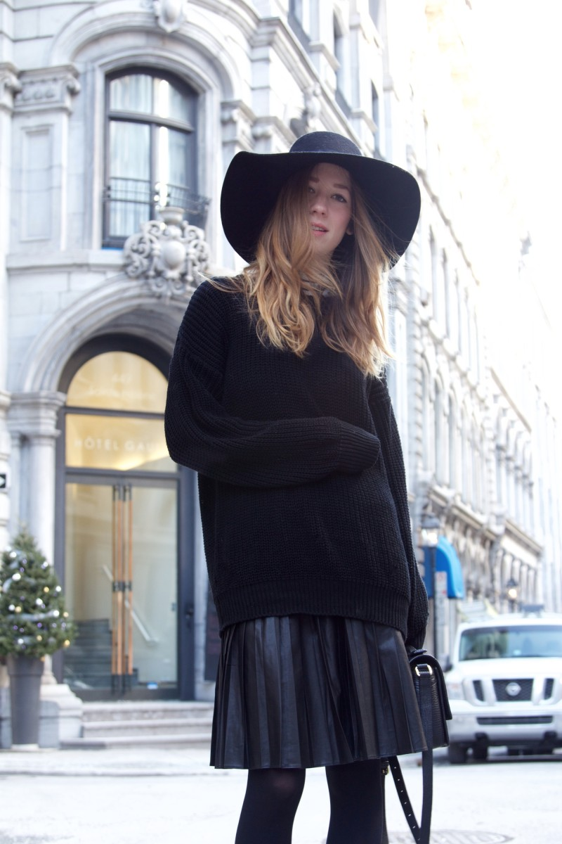 layered black outfit post