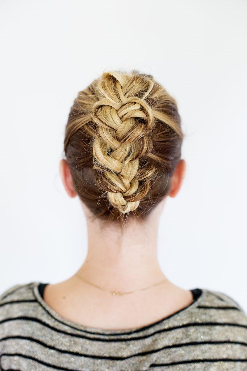 tucked braid updo