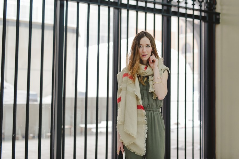 Gabrielle Lacasse montreal blogger with Dynamite jumper