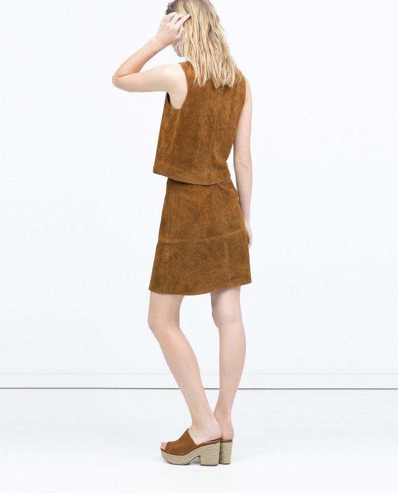 fashion suede skirt