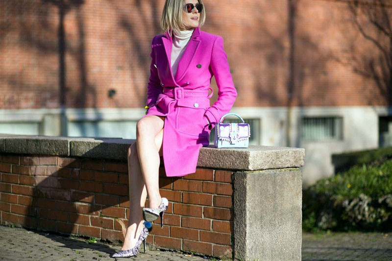 radiant orchid coat